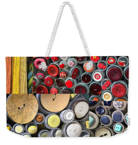 Button Up Weekender Tote Bag