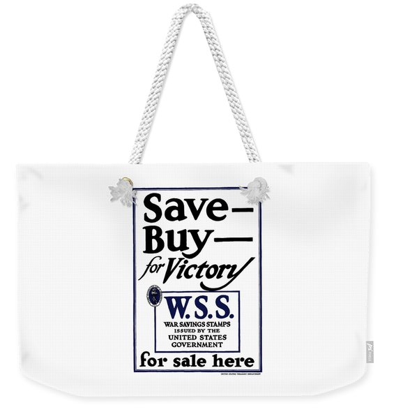 Buy For Victory Weekender Tote Bag
