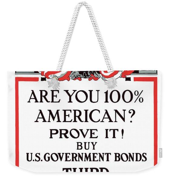 Buy U.s. Government Bonds Weekender Tote Bag