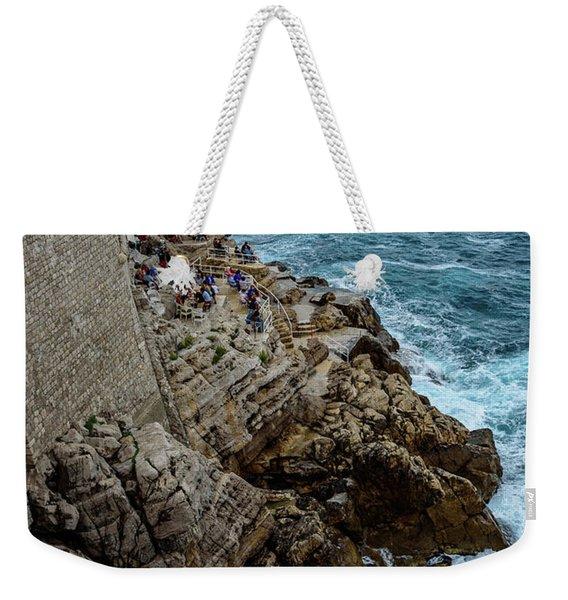 Buza Bar On The Adriatic In Dubrovnik Croatia Weekender Tote Bag