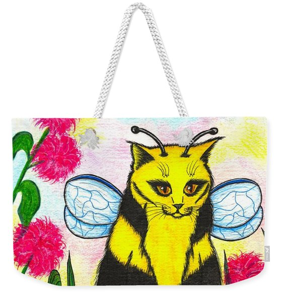 Buzz Bumble Bee Fairy Cat Weekender Tote Bag