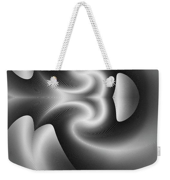 Weekender Tote Bag featuring the digital art Bw 5 by Visual Artist Frank Bonilla