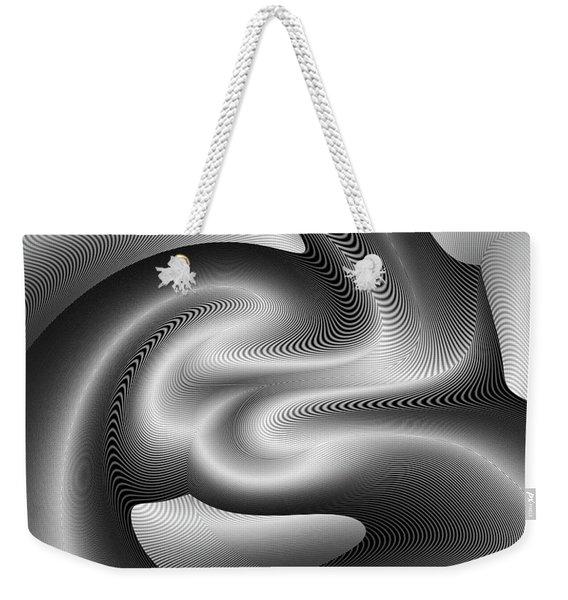Weekender Tote Bag featuring the digital art Bw 6 by Visual Artist Frank Bonilla