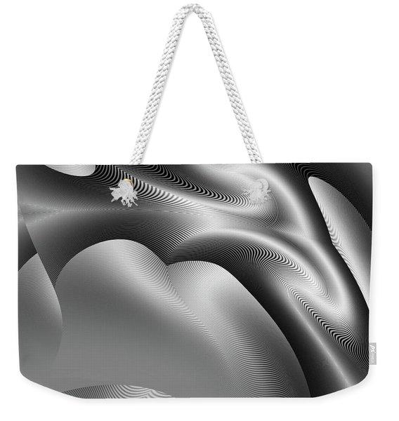 Weekender Tote Bag featuring the digital art Bw Art 1 by Visual Artist Frank Bonilla