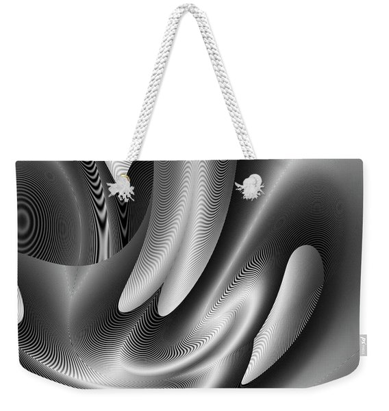 Weekender Tote Bag featuring the digital art Bw Art 10 by Visual Artist Frank Bonilla