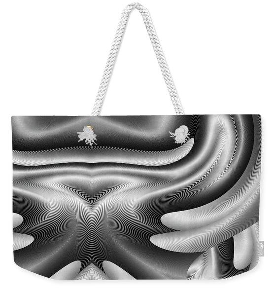 Weekender Tote Bag featuring the digital art Bw Art 8 by Visual Artist Frank Bonilla
