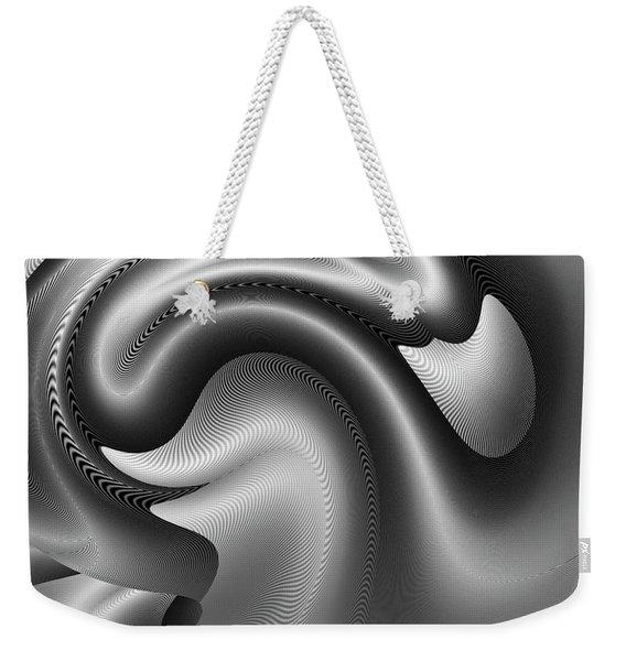 Weekender Tote Bag featuring the digital art Bw Art 9 by Visual Artist Frank Bonilla