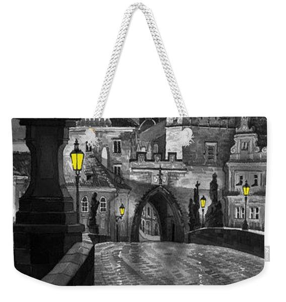 Bw Prague Charles Bridge 03 Weekender Tote Bag