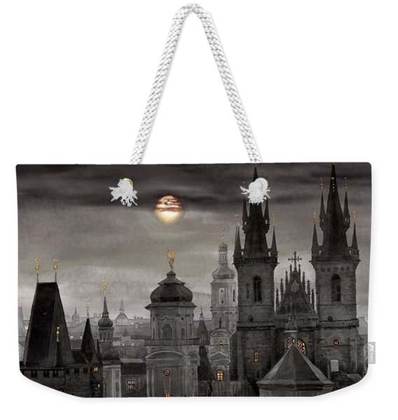 Bw Prague City Of Hundres Spiers Weekender Tote Bag