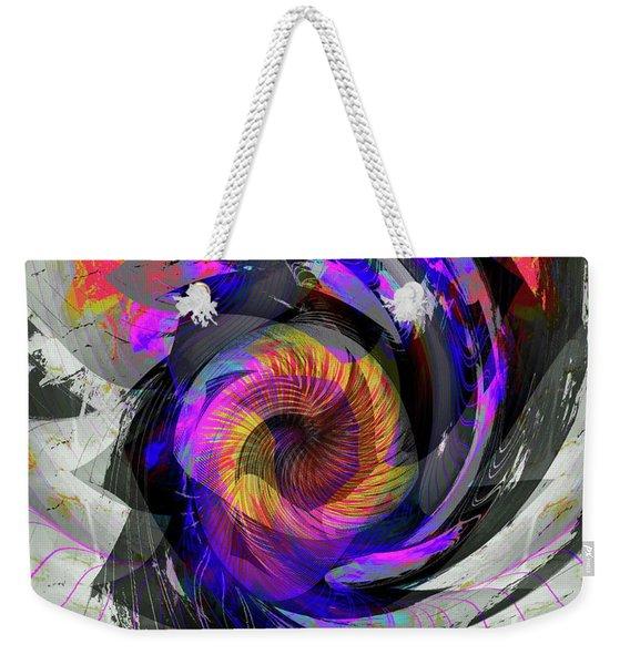 Weekender Tote Bag featuring the digital art Bw Rose by Visual Artist Frank Bonilla
