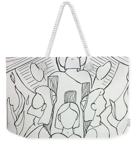 By Faith Weekender Tote Bag