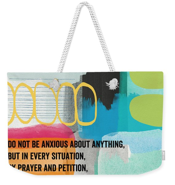 By Prayer And Petition- Contemporary Christian Art By Linda Wood Weekender Tote Bag
