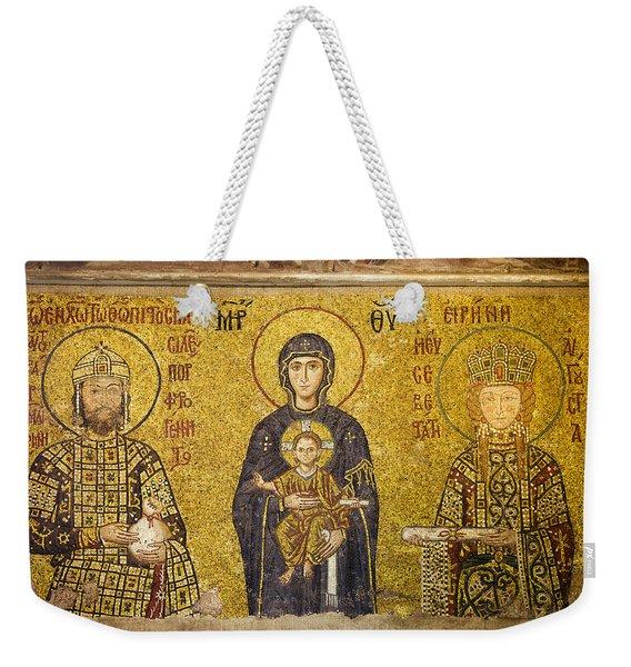 Byzantine Mosaic In Hagia Sophia Weekender Tote Bag