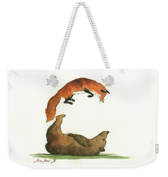 C Letter Weekender Tote Bag