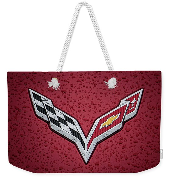 C7 Badge Red Weekender Tote Bag