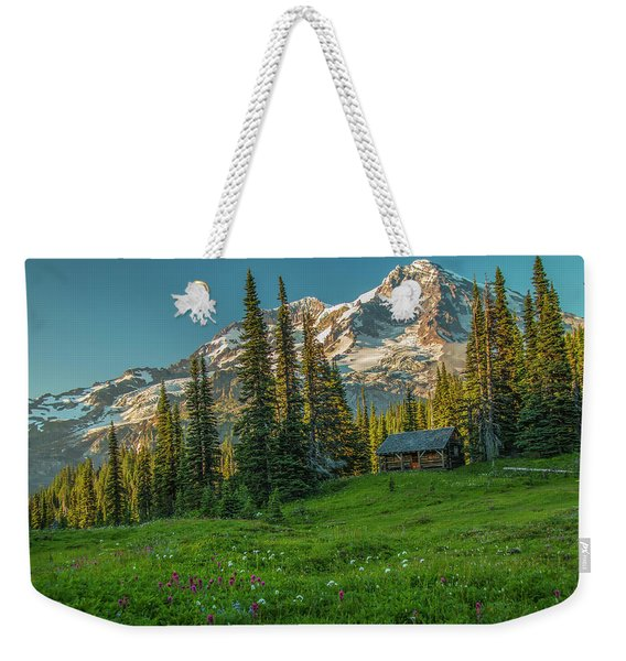 Cabin On The Hill Weekender Tote Bag