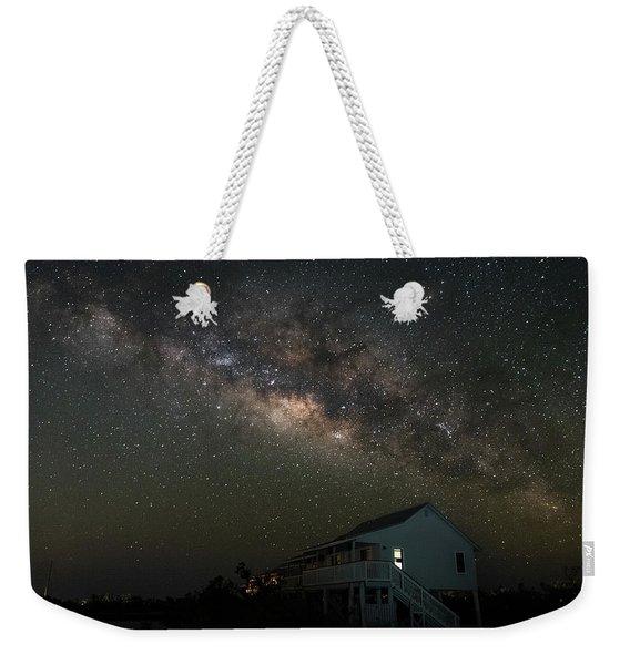 Cabin Under The Milky Way Weekender Tote Bag