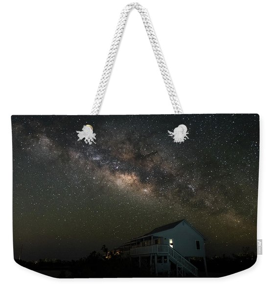 Cabin Under The Milky Way Weekender Tote Bag