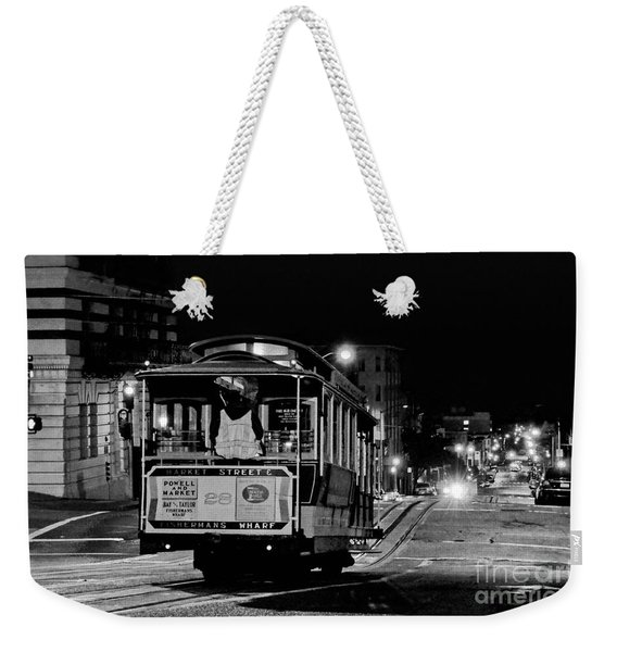 Cable Car At Night - San Francisco Weekender Tote Bag