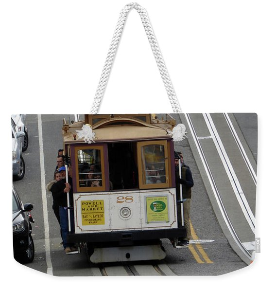 Cable Car Weekender Tote Bag