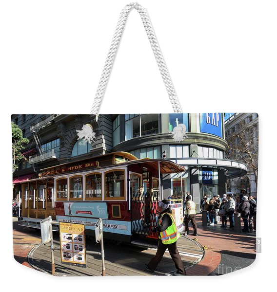 Cable Car Union Square Stop Weekender Tote Bag
