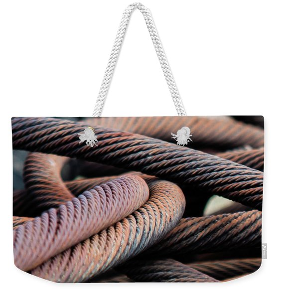 Cable Chaos Weekender Tote Bag