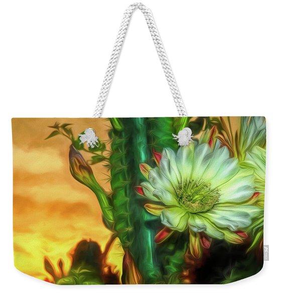 Cactus Flower At Sunrise Weekender Tote Bag