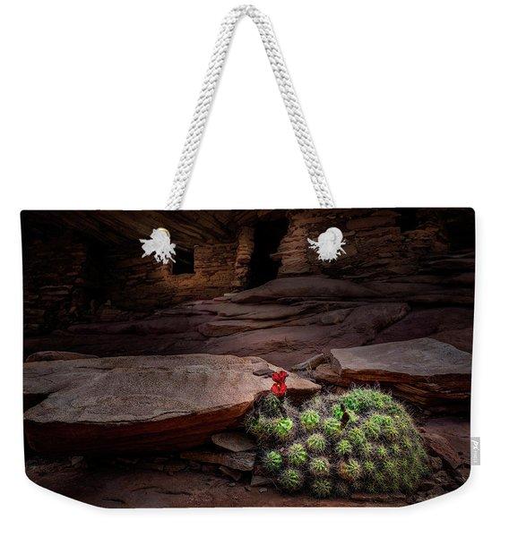 Cactus On Fire Weekender Tote Bag