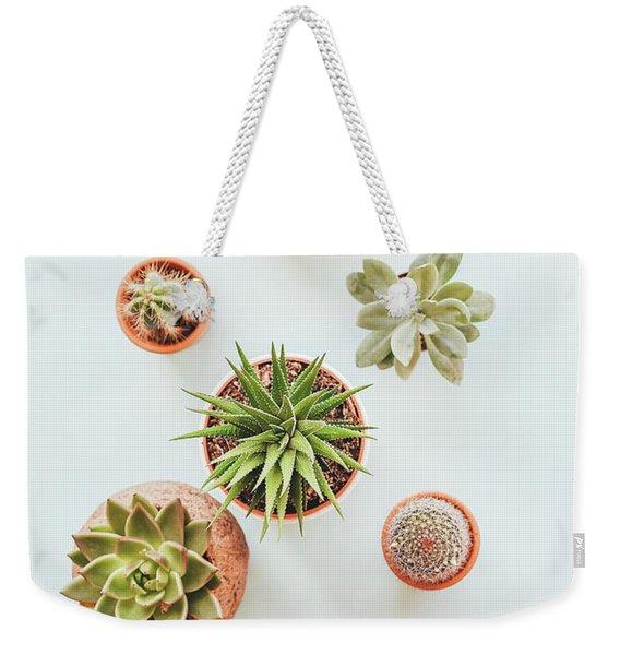 Cactus Pots Weekender Tote Bag