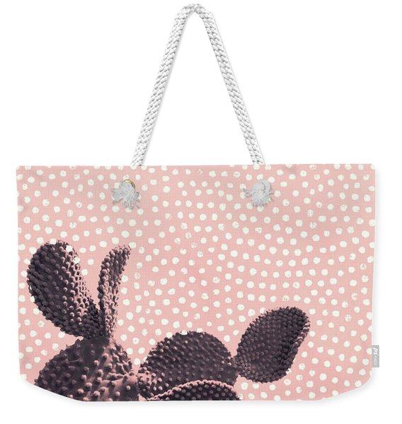 Cactus With Polka Dots Weekender Tote Bag