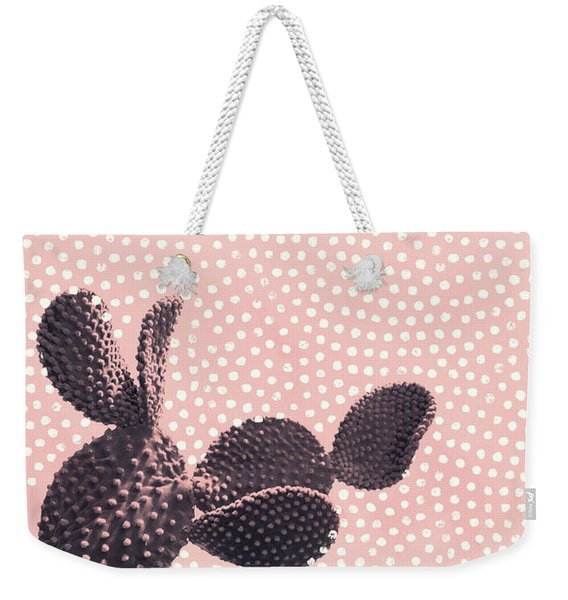 Cactus With Polka Dots Weekender Tote Bag