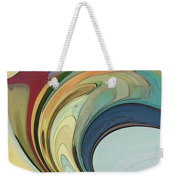Weekender Tote Bag featuring the digital art Cadenza by Gina Harrison