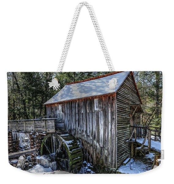 Cades Cove Grist Mill In Winter Weekender Tote Bag