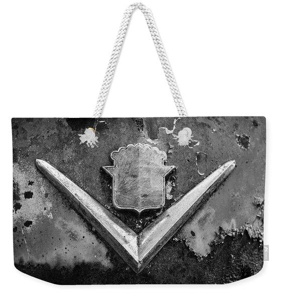 Cadillac Emblem On Rusted Hood Weekender Tote Bag