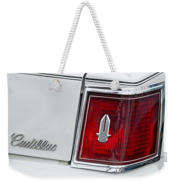 Cadillac Taillight Emblem Weekender Tote Bag