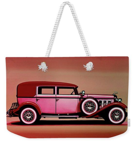 Cadillac V16 Mixed Media Weekender Tote Bag