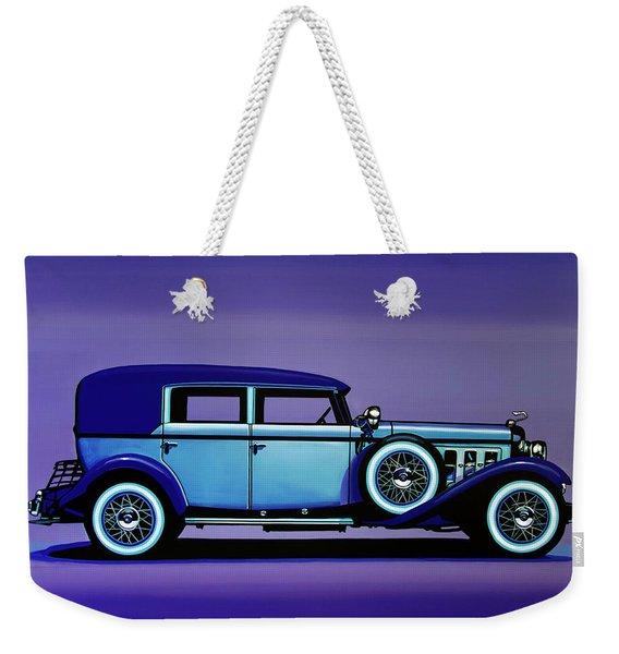 Cadillac V16 1930 Painting Weekender Tote Bag