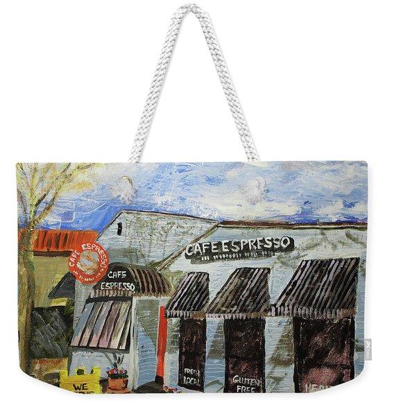 Cafe Espresso Weekender Tote Bag