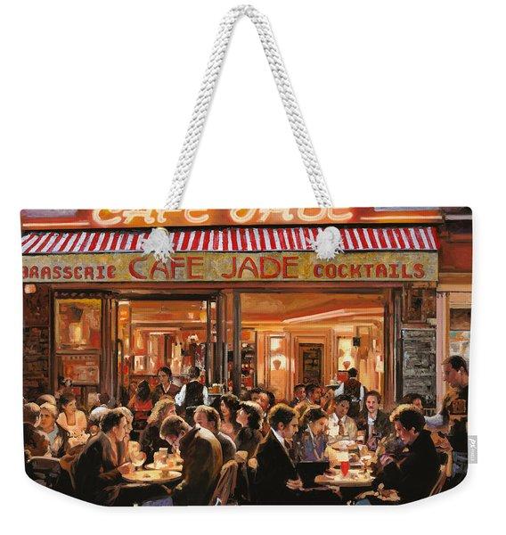 Cafe Jade Weekender Tote Bag