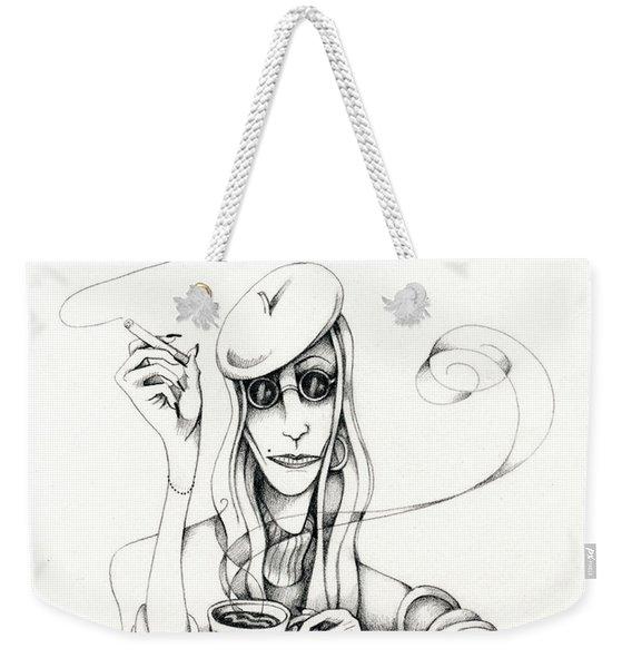 Cafe Lady Weekender Tote Bag