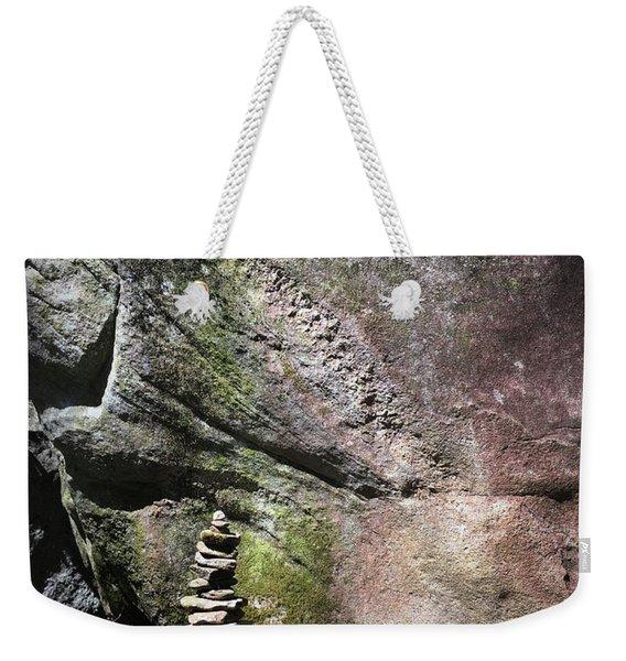 Cairn Rock Stack At Jones Gap State Park Weekender Tote Bag