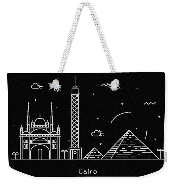 Cairo Skyline Travel Poster Weekender Tote Bag