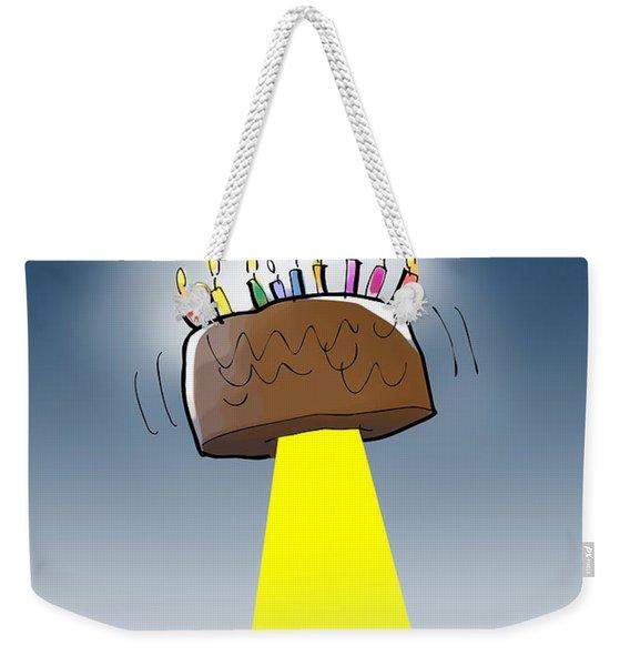 Cake Spaceship Weekender Tote Bag