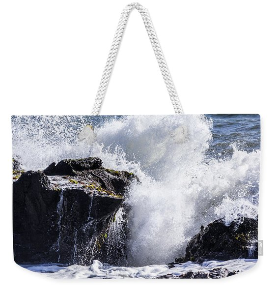 California Coast Wave Crash 6 Weekender Tote Bag