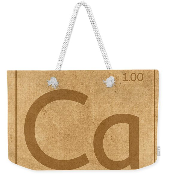 Calcium Element Symbol Periodic Table Series 020 Weekender Tote Bag