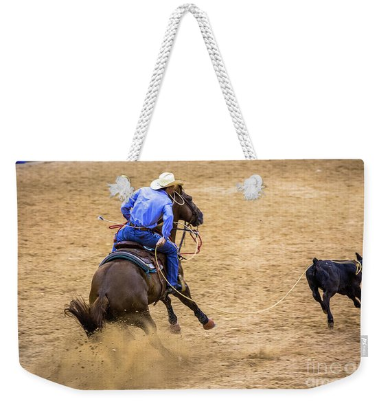 Calf Roping At The Rodeo Weekender Tote Bag