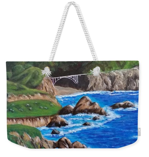 California Coastline Weekender Tote Bag