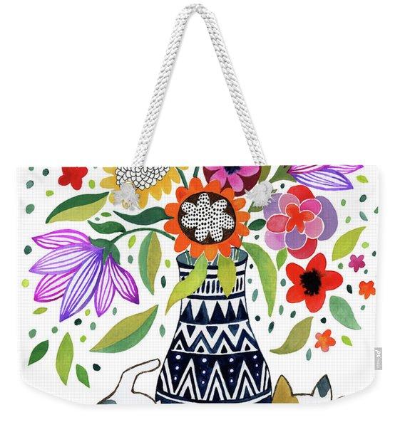 Calico Bouquet Weekender Tote Bag