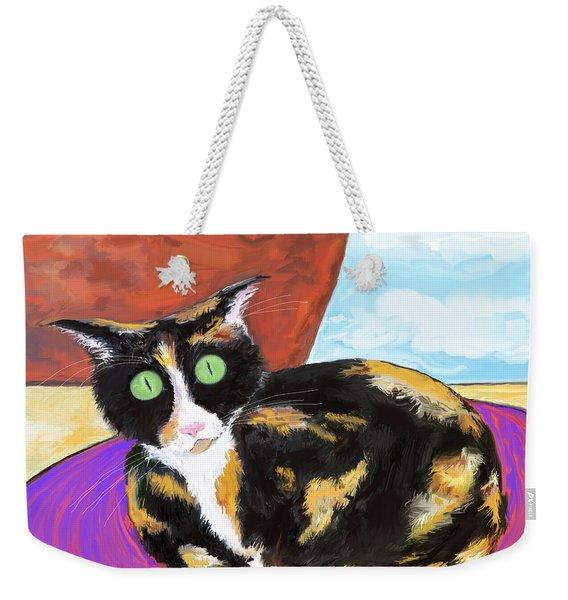 Calico Cat On A Rug  Weekender Tote Bag