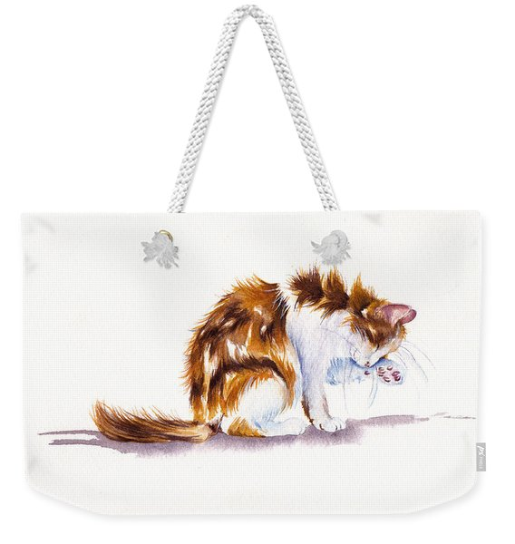Calico Cat Washing Weekender Tote Bag